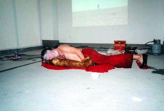 Hello I love you @ Michael Mayhew. 2004. 2nd dadao live art festival. Pekin
