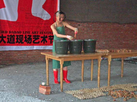 Abortion Politics @ Tao Liang. 2005. 3rd Dadao Live art Festival. Pékin. Chine
