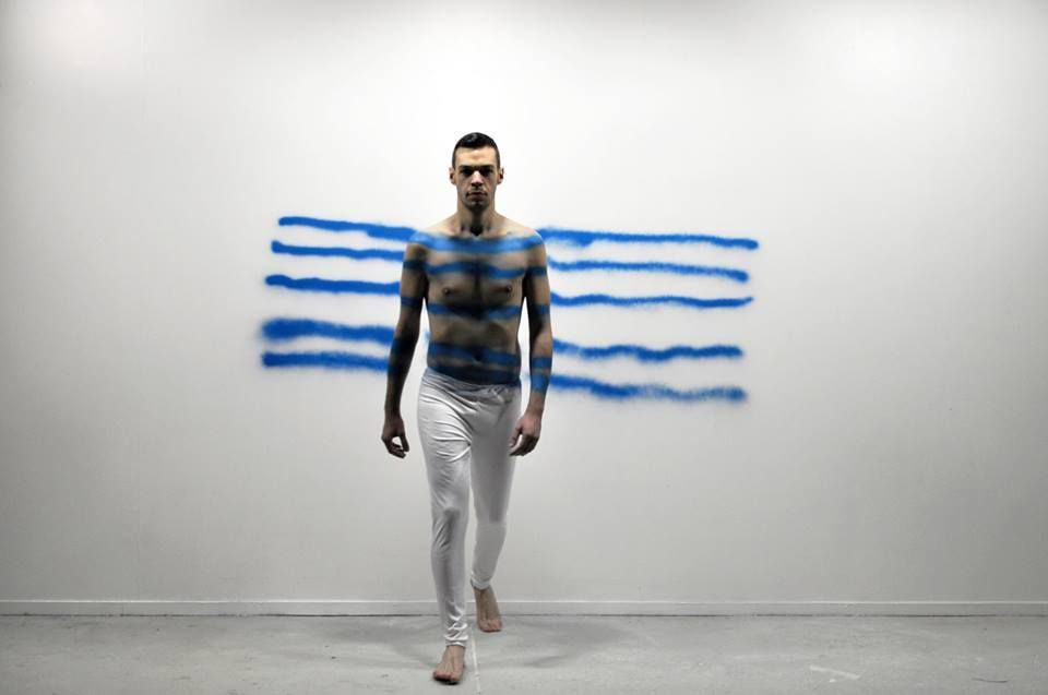 Vandamism n.1 (5 blue Lines) @ Andreas Pashias. 2015. photo. Rilène Markopoulou