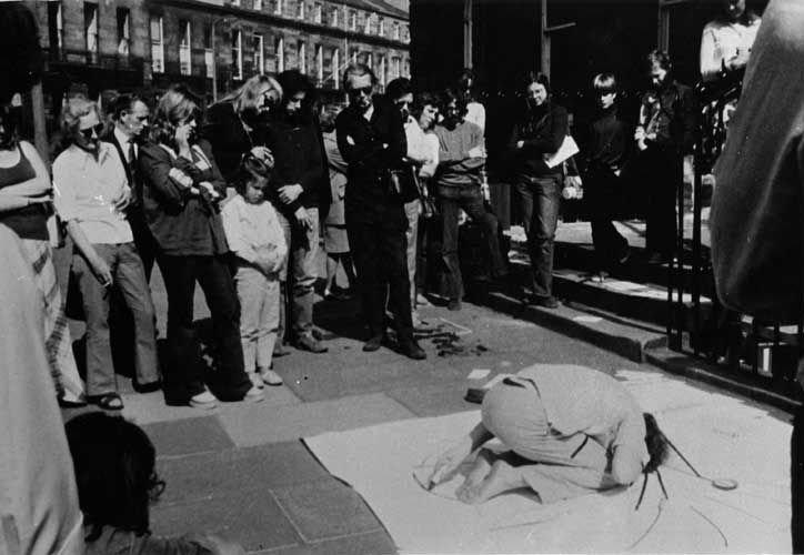 Water Drawing in the Corner of the Pavement Form Sound Fire Nothing Auction @ Zbigniew Warpechowski. 1973. Demarco Gallery. Edinburgh