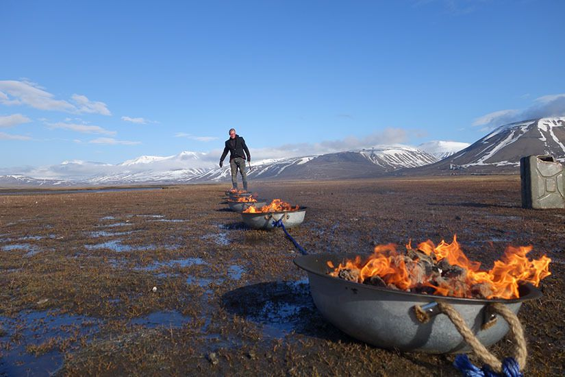 Poetry of the Infinite @ Joakim Stampe. 2015. Performance Festival Spitsbergen. Artic Action