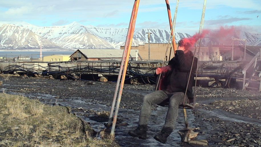 Pyramiden Untitled @ Joakim Stampe. 2015. Performance Festival Spitsbergen. Artic Action