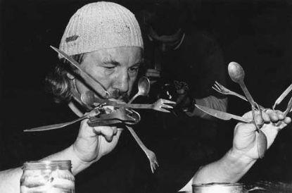Puszka sardynek @ Zbigniew Warpechowski. 1995. Galeria Manhattan. Lodz