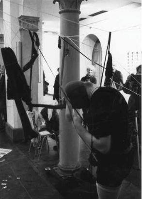 Kondom of Europe II @ Zbigniew Warpechowski. 1997. Trinitatis Kirche. Cologne. photo. Pietro Pellini