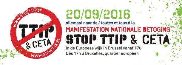 Manifestation nationale STOP TTIP &amp&#x3B; CETA ce 20 septembre à Bruxelles
