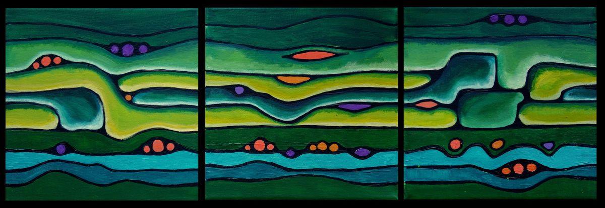 Roudoudous - acrylique sur toile (3 - 20x20) - #
