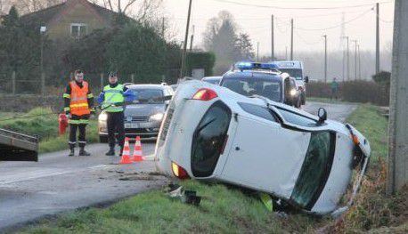 Accident à Steenwerck 9 - 12 - 2014