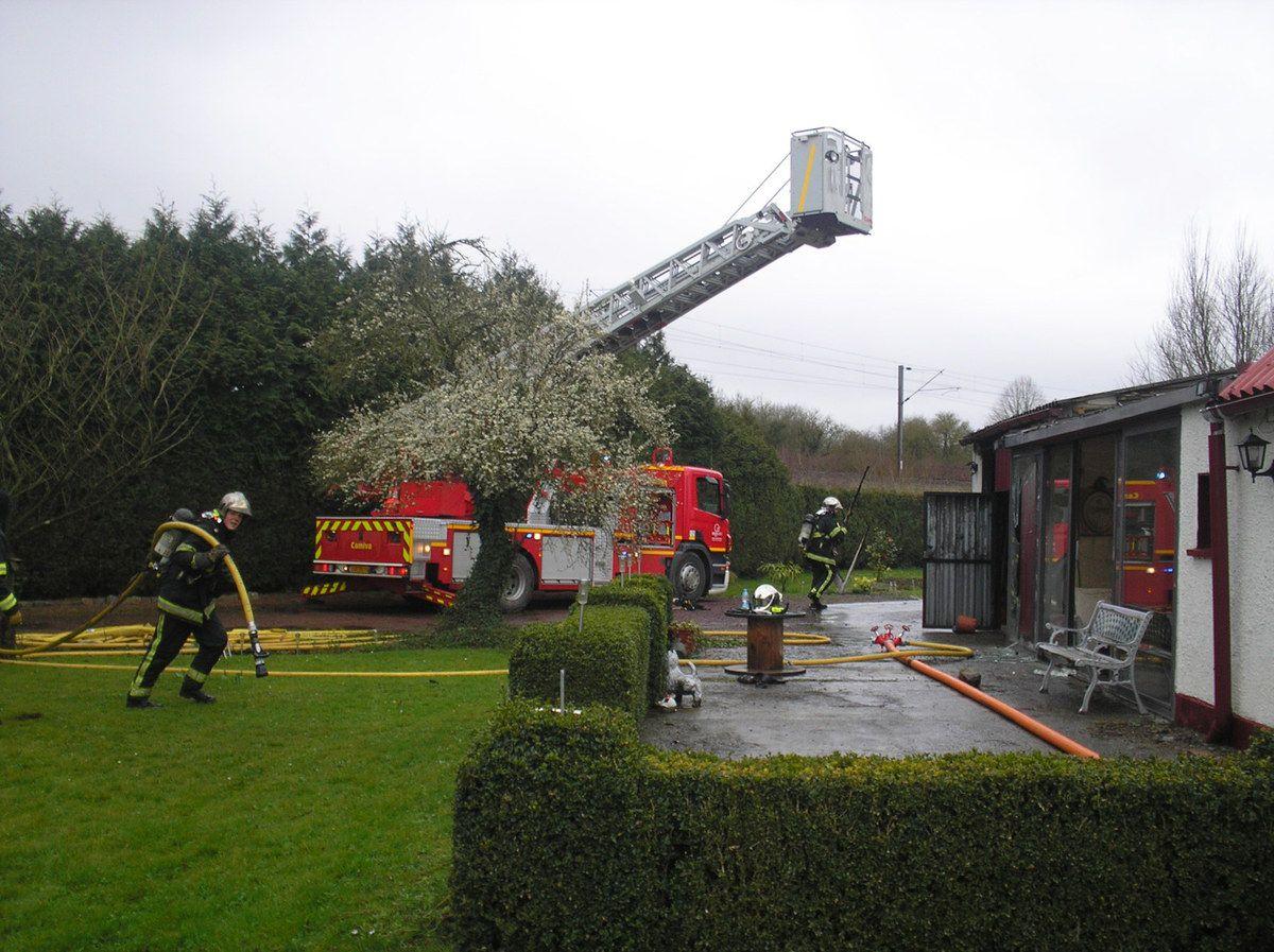 Les pompiers sauvent une maison à Hazebrouck
