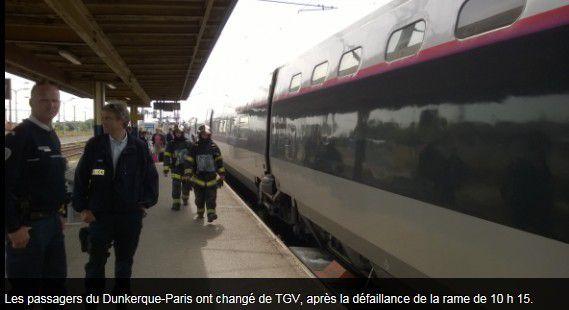 Les pompiers d'Hazebrouck appelés pour &quot&#x3B;Feu sur un TGV en gare&quot&#x3B;  - 16 juin 2015 -