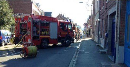 Appel pour fuite de gaz rue Kennedy à Estaires - 30 septembre 2015 -