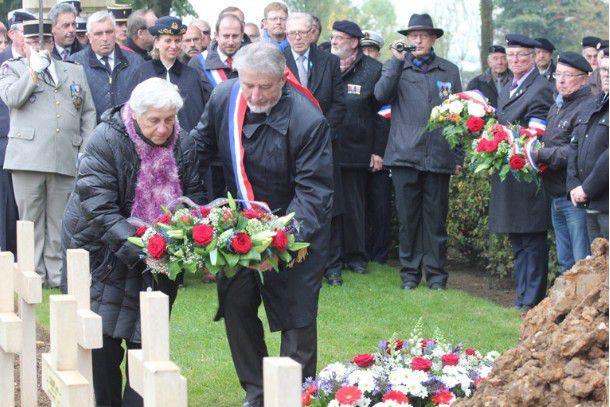 Présence de la Garde à Lorette ce 15 octobre 2015 pour le centenaire des combats d'Artois et les funérailles du soldat Sorhaits.