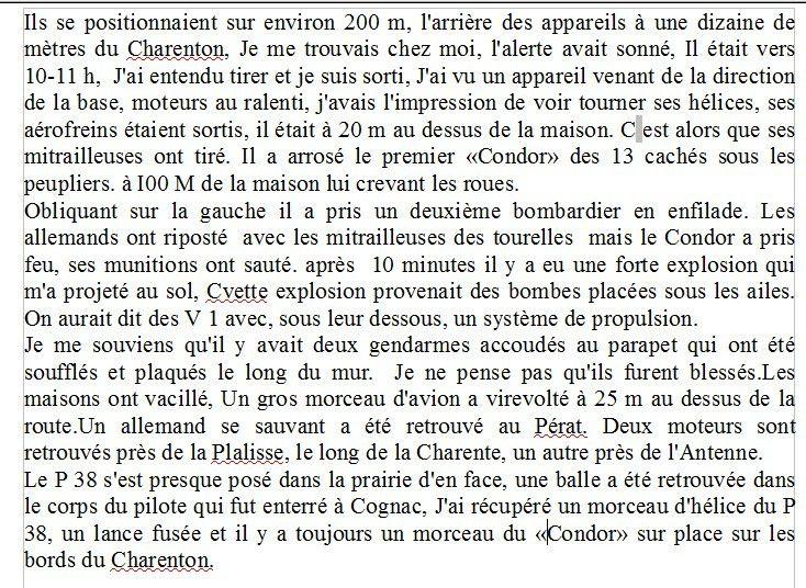 Retour sur l'un de mes &quot&#x3B;Souvenirs de guerre&quot&#x3B;  Le Héros Américain de l'ile Marteau à   Cognac.