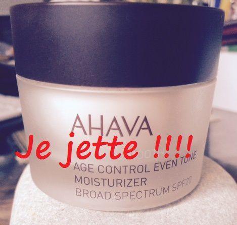 Mon expérience - négative-- avec la crème AHAVA