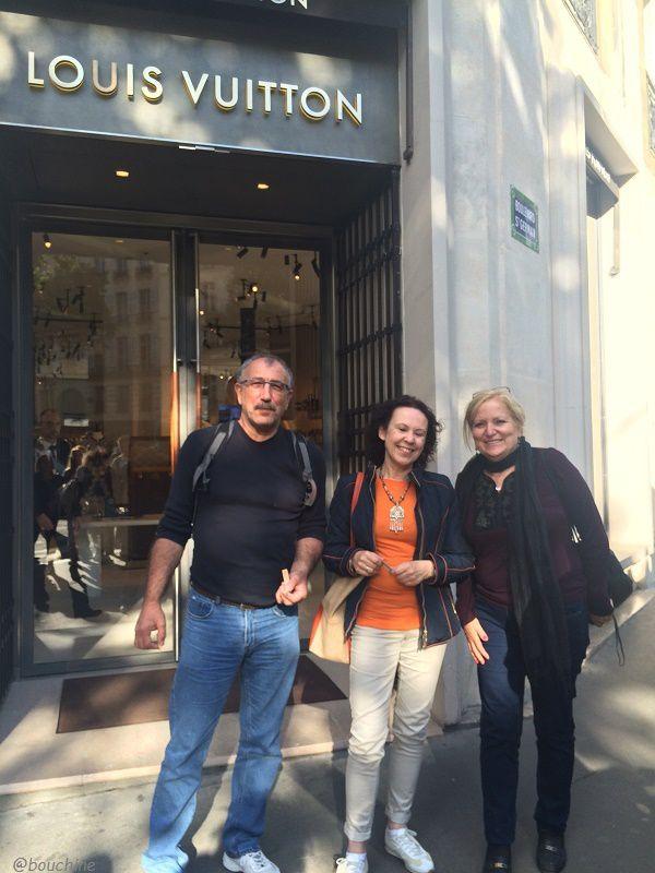 L'écrivain Chantal Bauwens entourée de mes amis Rufina (l'une des rares espagnoles blondes que je connaisse!) et José
