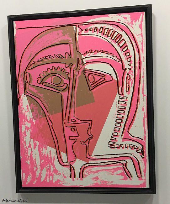 Andy Warhol, Acrylique et sérigraphie sur toile Têtes d'après Picasso, 1965