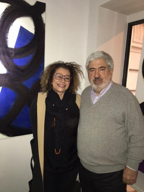 Ici avec le peintre Gérard Escougnou