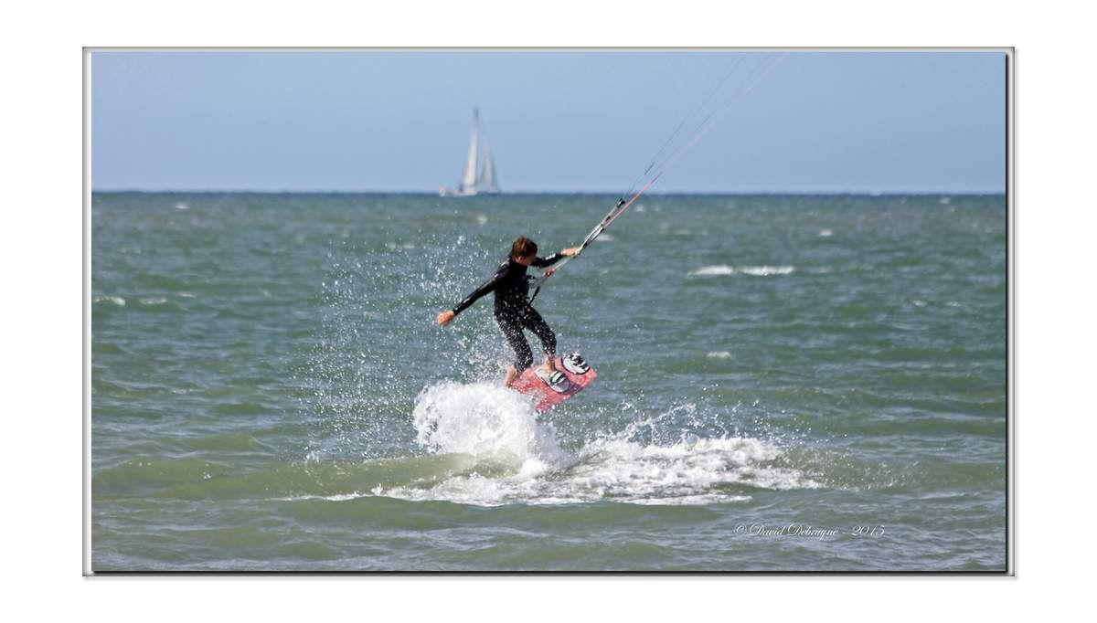 kitesurf sur la plus belle plage du nord