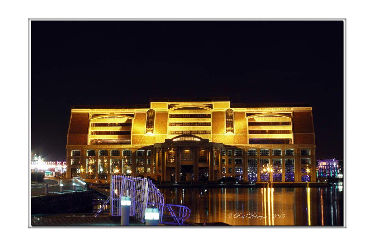 le bassin du commerce de Dunkerque By Night
