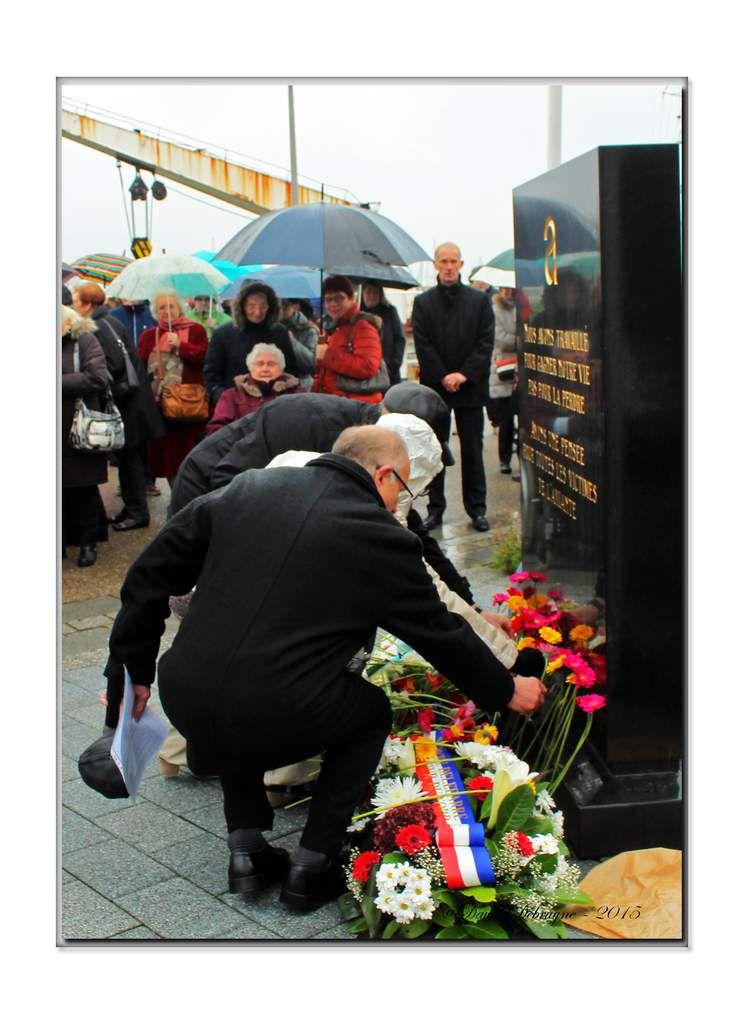 cérémonie pour les 9 ans de la stèle des victimes de l'amiante