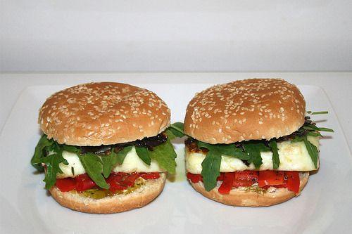 Burger a l'halloumi