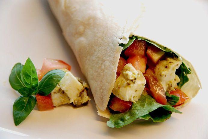 Wrap tomates/mozzarella/basilic