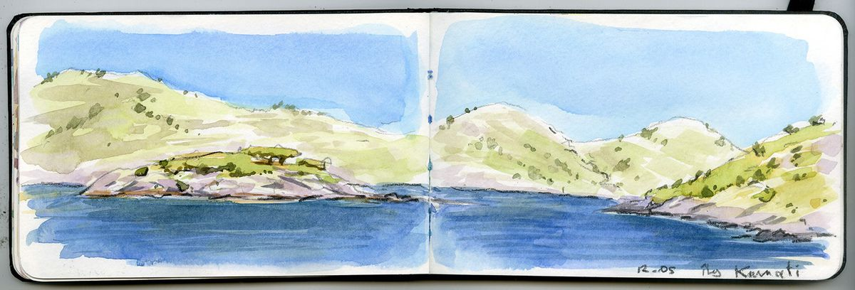 aquarelles voyages en croatie 2015