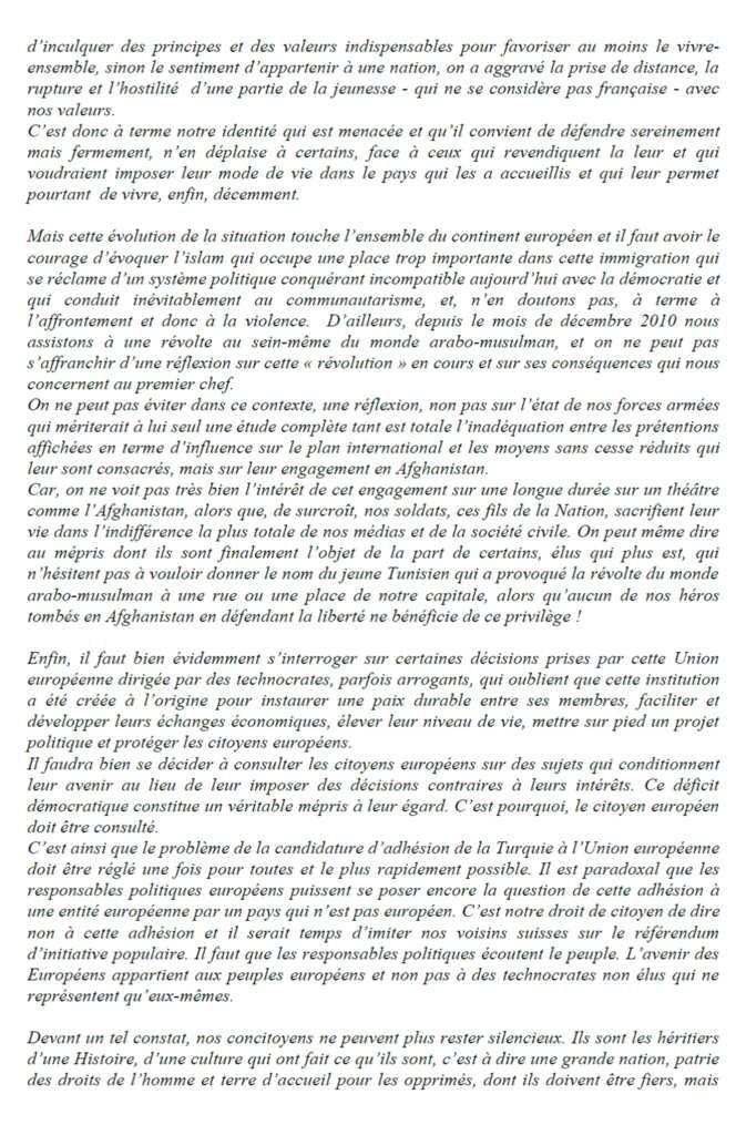 Général Antoine Martinez : Il est temps pour le peuple de France de reprendre en main son destin.