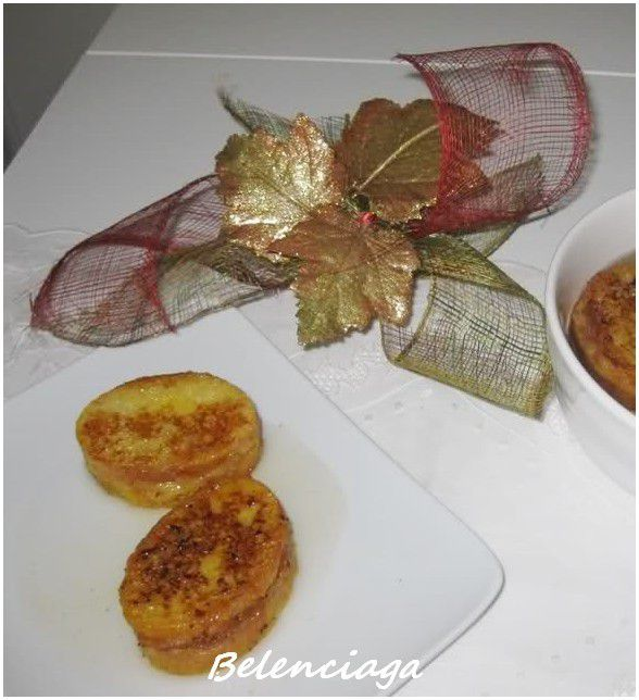Tortilla de bacalao.torrijas rellenas