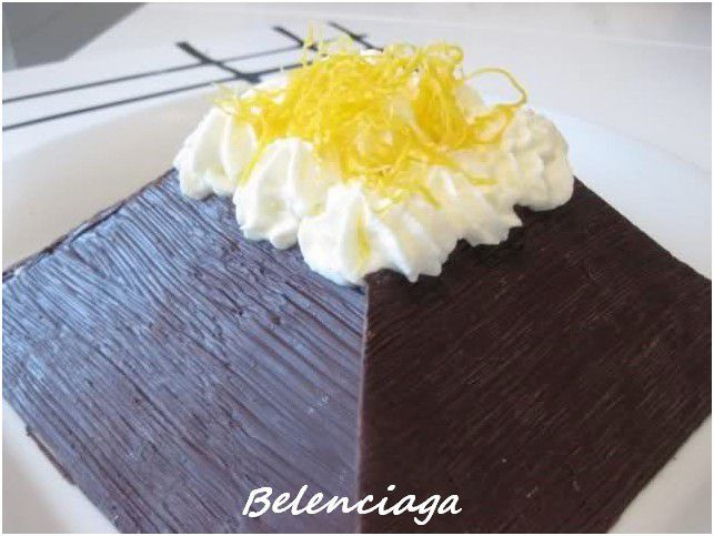 tarta piramide chocolate