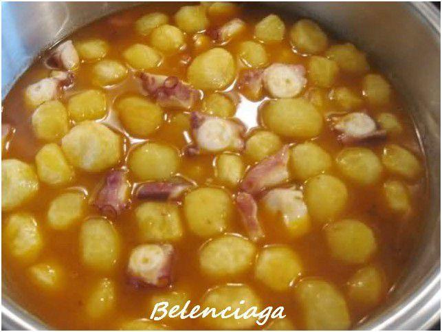 Pulpo para guiso con patatas belenciaga paso a paso for Pulpo en olla rapida