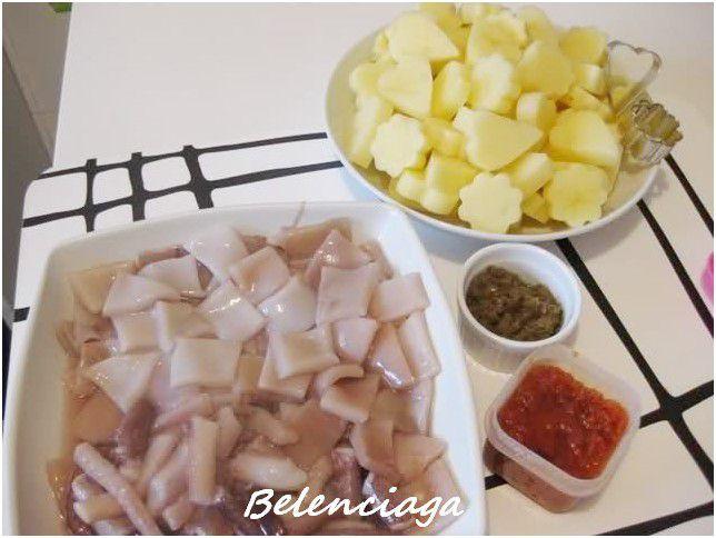 potarros con patatas
