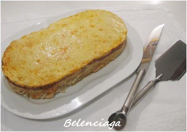 pastel pasta y boloñesa