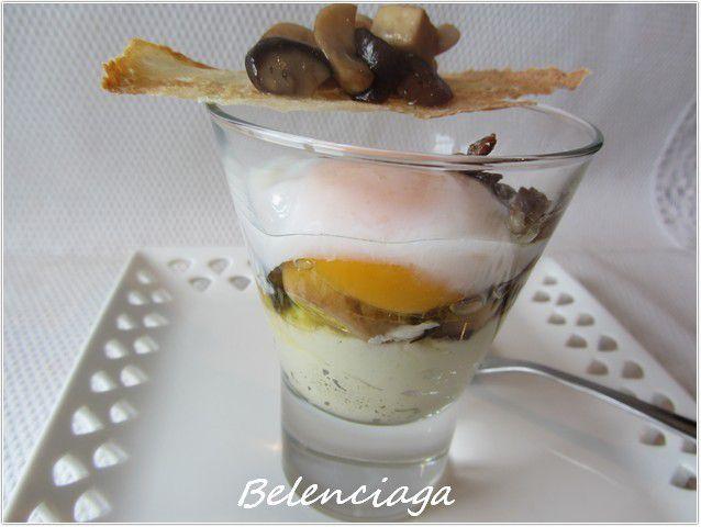 huevo con setas