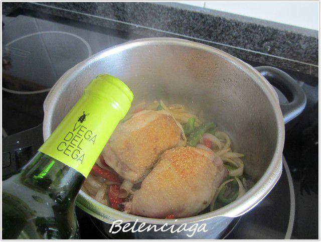 pollo con verduras de huerta