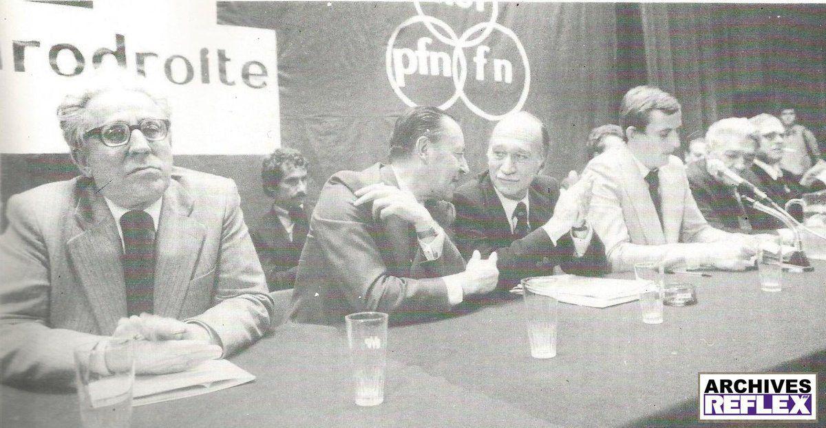Blas Piñar et Giorgio Almirante (MSI)