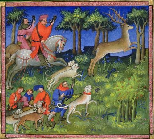 vénerie (chasse à cour) pendant le Moyen-Age