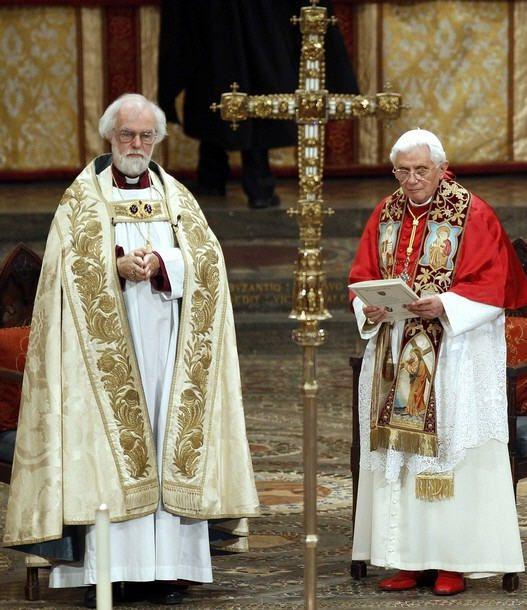 Célébration oecuménique à l'Abbaye de Westminster avec les hérétiques protestants anglicans