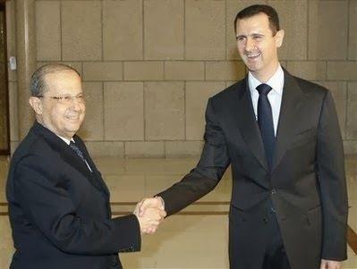 le général Aoun et Bachar el Assad