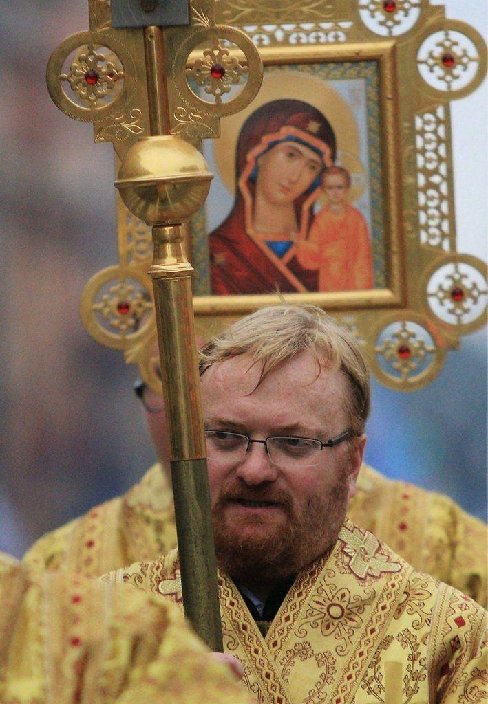 Vitali Milonov, député russe de Russie Unie et auteur de la loi contre la propagande homosexuelle