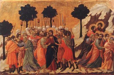 Jésus fait prisonnier par le Peuple Déicide (juif)