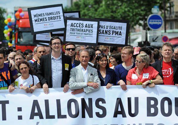 le judéo-maçon homosexuel Bertrand Delanoë et la judéo-maçonne Anne Hidalgo