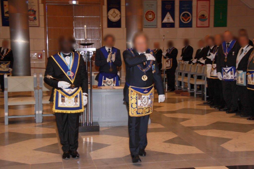 Entrée du Grand Maître Provincial de la Province du Dauphiné-Savoie, Jean-Paul Moa.