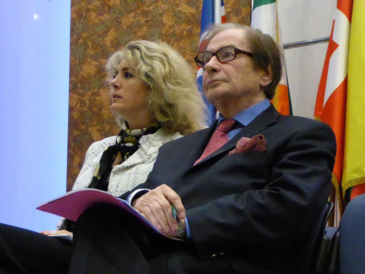 Céline Bryon-Portet avec Antoine Faivre (Photo Yonnel Ghernaouti - Tous droits réservés)