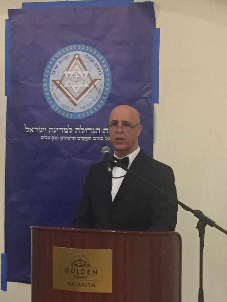 Le Grand Maître de la Grande Loge d'Israël, le T.'.R.'.F.'. Suliman Salem. (Photo: Tous droits réservés)