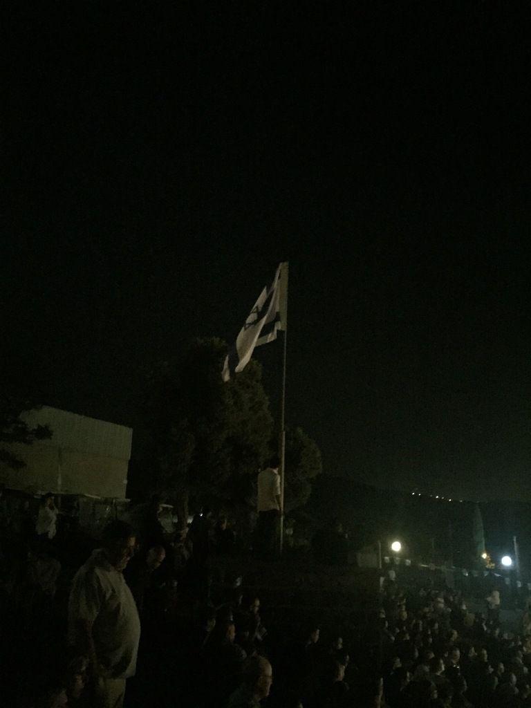 Lever du drapeau à la célébration du 69ème anniversaire de l'Etat d'Israël. (Crédit photos: Tous droits réservés).