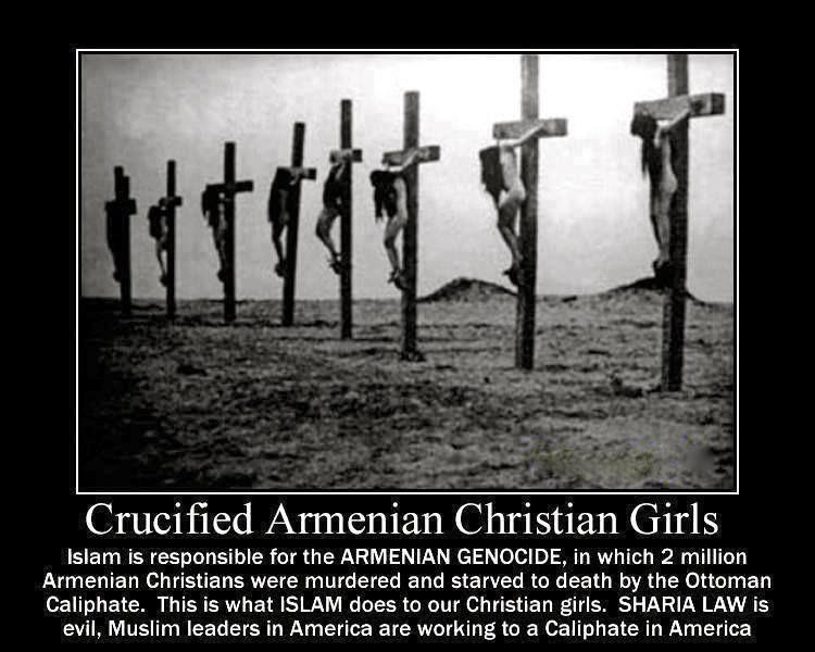 Rappel : crucifixion des Arméniens par les Turcs