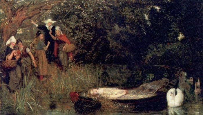 """Arthur Hughes, """"The Lady of Shalott"""" (1873)"""