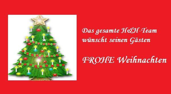 H&amp&#x3B;H Wein- und Bierwirtschaft wünscht &quot&#x3B;Frohe Weihnachten&quot&#x3B;