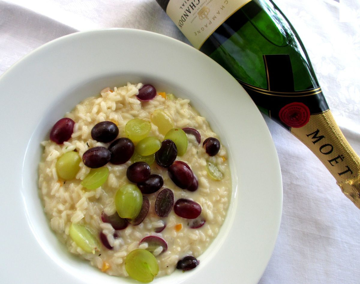 Risotto all'uva &amp&#x3B; Champagne...