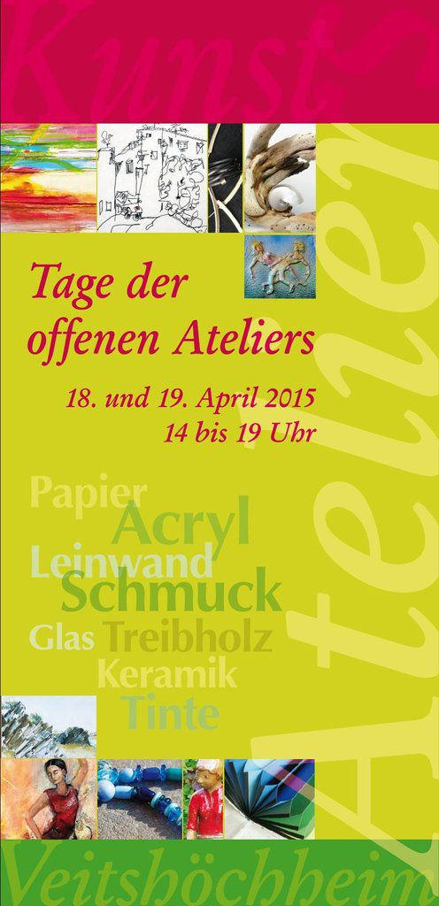 Viele Veitshöchheimer Künster/innen beteiligen sich am 18./19. April am &quot&#x3B;Offenen Atelier&quot&#x3B;